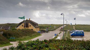Windsurfen am Hvidbjerg Strand, Blåvand, Dänemark