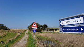 Rømø, Flautenbeschäftigung Fahrradroute