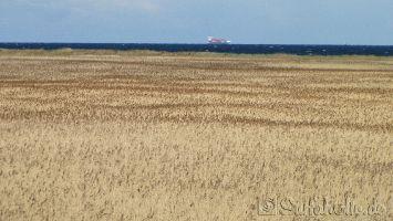 Fehmarn, viel Verkehr auf der Ostsee