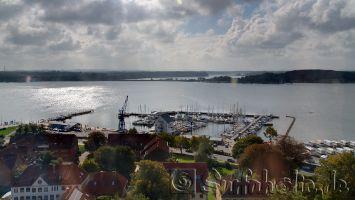 Schleswig, Blick vom St.Petri Dom, auf die Schlei, Ostsee