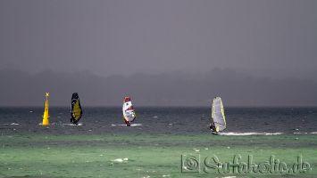 Windsurfen auf der Eckernfoerder Bucht bei Lindhöft