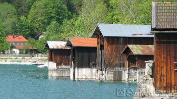 Bootsschuppen am Walchensee