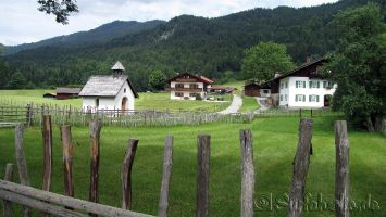 Oberbayerische Landschaft bei Krün