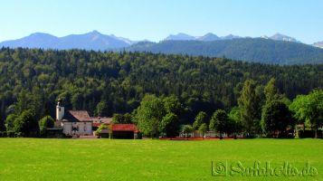 Oberbayerische Landschaft in Walchensee
