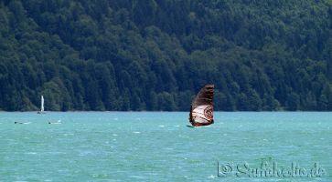 Walchensee, windsurfen im Shorty (Ende Juni)