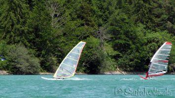 Walchensee, windsurfen in Oberbayern