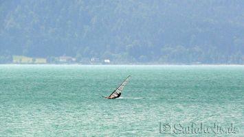 Walchensee, windsurfen in Urfeld