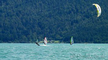 Walchensee, windsurfen, kitesurfen bei Thermik