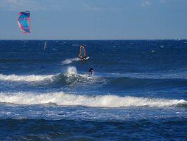 Canet, Kite und Windsurfer bei Marin