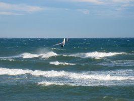Canet, schöne Wellen bei Marin