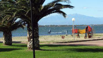 Der Spielplatz von Cap Coudalère. Die ersten Meter sind bei Trami spiegelglatt.