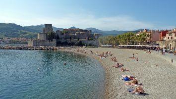 Südfrankreich, Collioure, Stadtstrand
