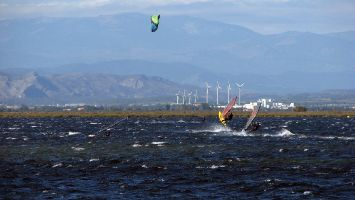 Eole, Etang de Leucate, kitesurfen, windsurfen