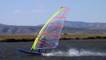 Etang de Leucate, Windsurfen Ile des Pêcheurs