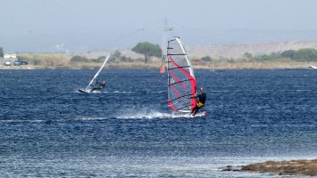 Speedpiste bei Ostwind: Etang de Leucate, Ile des Pêcheurs