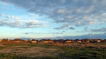 Leucate, Ile des Pêcheurs April 2012, Sonnenuntergang
