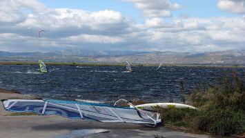 Etang de Leucate, See vor der Ile des Pêcheurs.