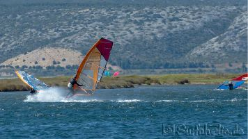 Windsurfen l'Île des Pêcheurs, Leucate