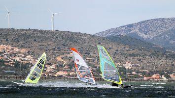 Le Parc à Huitres, Etang de Leucate, windsurfen 2013