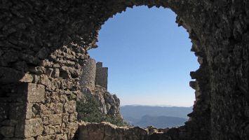 Château de Peyrepertuse, schöne Ausblicke auf das Roussillion