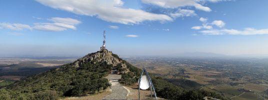 Forca Real, Blick bis zum Mittelmeer von 507m