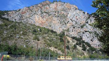 Le petit traine jaune, Start in Villefranche de Conflent