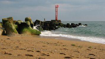 Atlantik nahe der Flussmündung Etel, Quiberon, Morbihan, Bretagne, Frankreich