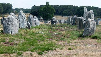 Das Menhir-Feld in Carnac, Quiberon, Morbihan, Bretagne, Frankreich
