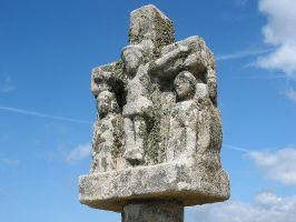Detail einer alten Grabstätte nahe Quiberon