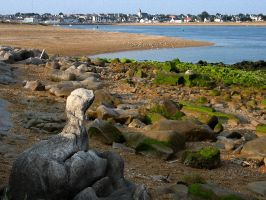Flussmündung d Etel mit Nessi, Quiberon, Morbihan, Bretagne, Frankreich