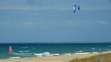 Kitesurfen auf dem Atlantik nahe Quiberon