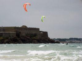Kitesurfer in Quiberon
