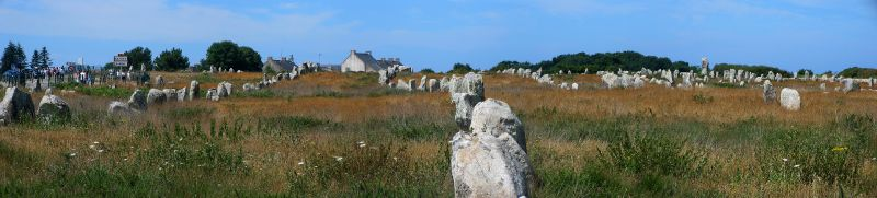 Menhire in Carnac, Quiberon, Morbihan, Bretagne, Frankreich