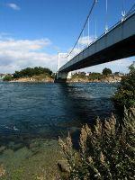 Pont Lorois nahe Quiberon, enorme Studel und Strömungen im Fluss Etel
