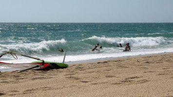 Surfen auf dem Atlantik nahe Quiberon
