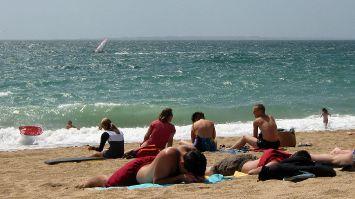 Windsurfen auf dem Atlantik nahe Quiberon