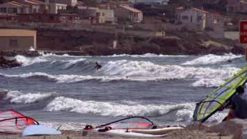 Wellenreiten in Sanary sur Mer