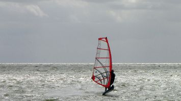 Hindeloopen - windsurfen auf dem Ijsselmeer
