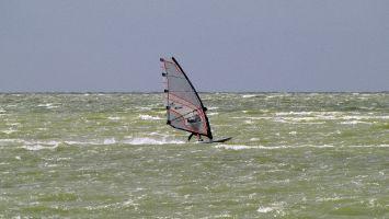 Hindeloopen - windsurfen bei auf dem Ijsselmeer