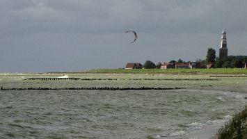 Hindeloopen - windsurfen bevor der Regen kommt :-)