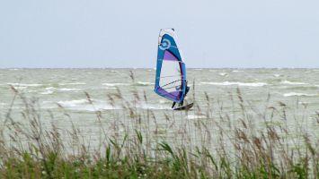 Hindeloopen, windsurfen bei Nordwest