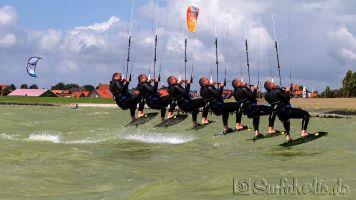 Kitesurfen in Hindeloopen, Ijsselmeer_4