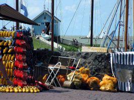 Markt in Hindeloopen, Ijsselmeer