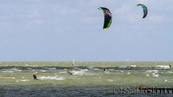 Windsurfen in Hindeloopen bei SW 6-7 bft, August 2014