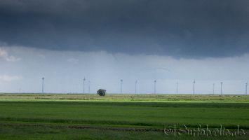 Sommerschauer mit kleinem Tornado, vor Lemmer