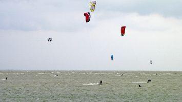 Mirns, Ijsselmeer,Kitesurfing