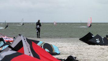 Workum, Windsurfen auf dem Ijsselmeer