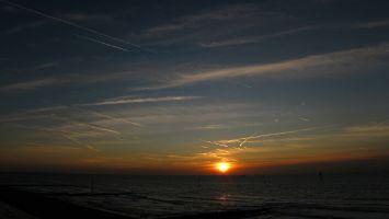 Sonnenuntergang, Petten, Nordsee, Holland