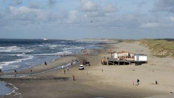 Windsurfen in Petten, Strand
