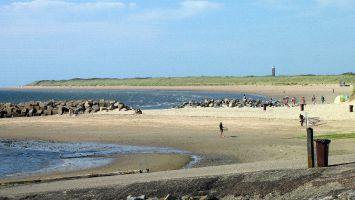 Renesse, breiter Strand am nördlichen Ende des Brouwersdam
